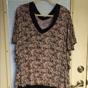 """Catherine's 30/32 pink and black blouse 31"""" long"""